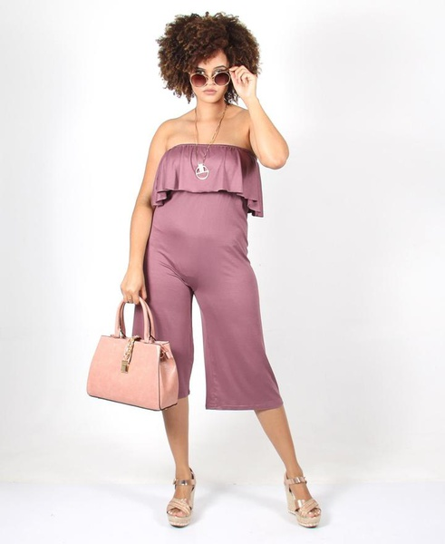Boobtube frill jumpsuit picture