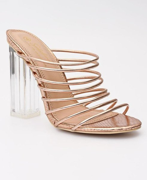 Block heels - silver/gold picture