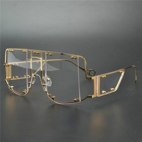 Fenty inspired block t mask sunglasses - clear ray picture