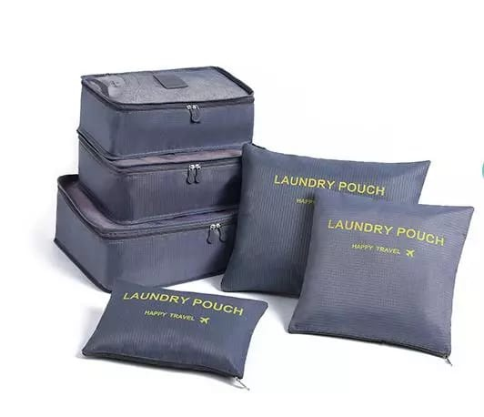6 piece travel laundry pouch picture