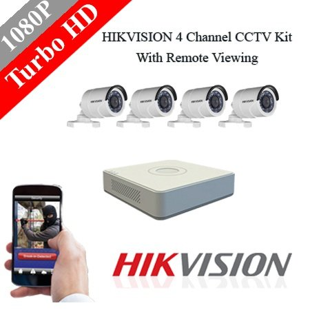 Hikvision 4 channel 2mp turbo hd kit. picture