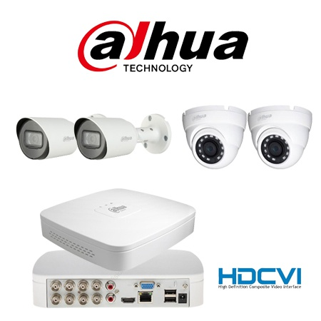 4 channel dahua dome/bullet starter kit picture