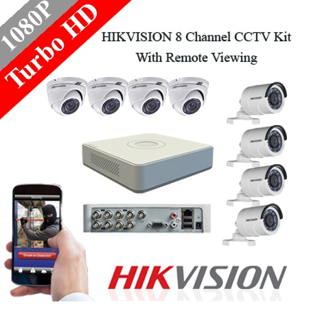 Hikvision 8 ch 2mp turbo hd kit - embedded dvr picture