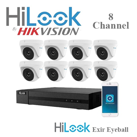Hilook by hikvision 8ch turbo hd kit - dvr - 8 x hd720p 2mp exir eyeball camera picture