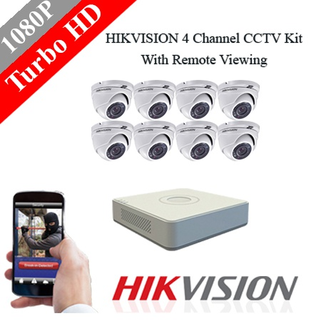 Hikvision 8 ch 2mp dome turbo hd kit - embedded dvr picture