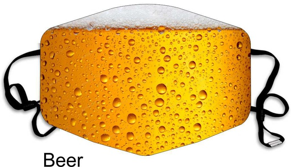 Beer 3 ply mask picture