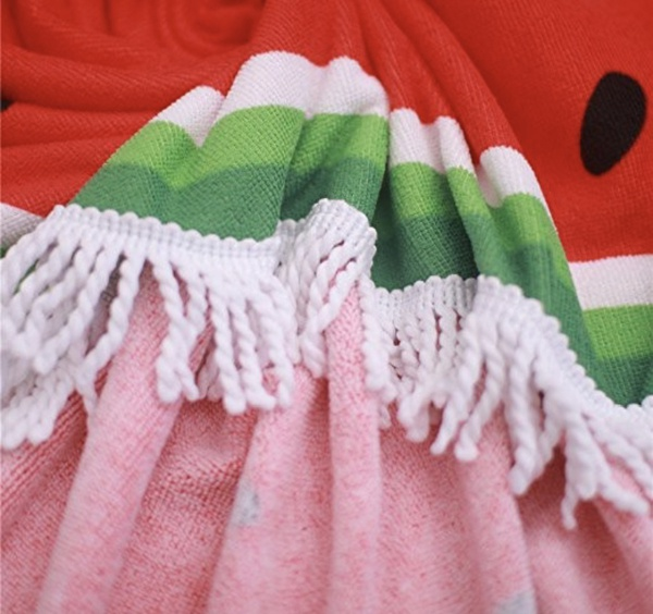 Round towel - watermelon picture
