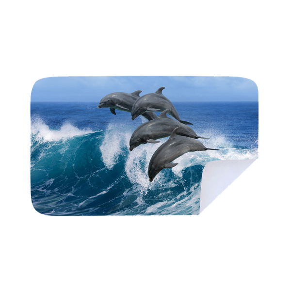 Microfiber beach towel  - dolphin dive picture