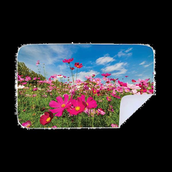 Microfiber beach towel  - flower garden picture