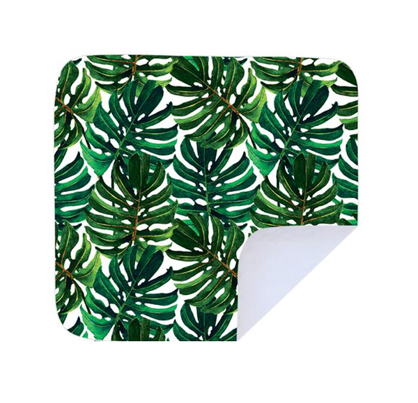 Beach / picnic blanket - big green leaves picture