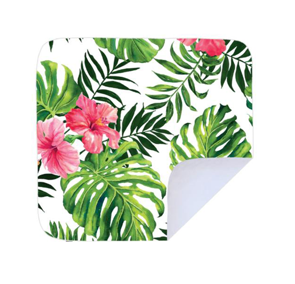 Beach / picnic blanket - pink hibiscus picture