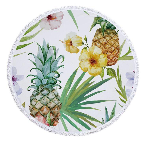 Round towel - tropical pine picture