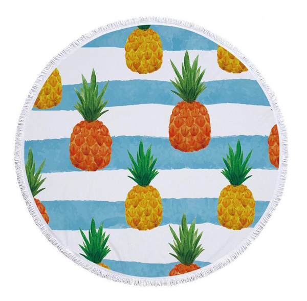 Round towel - picasso pine picture