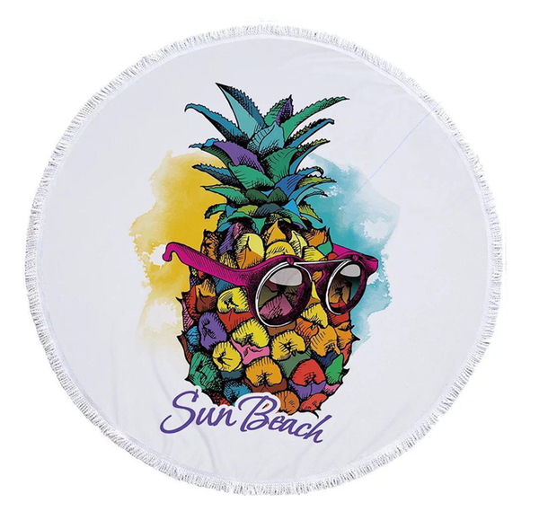 Round towel - coolest pine picture