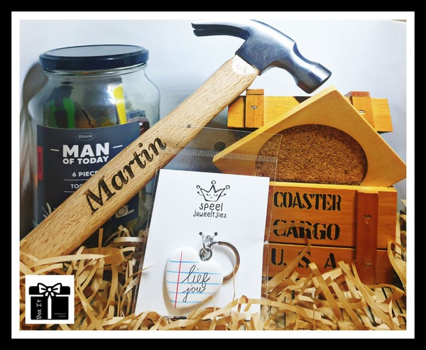 Handy man personalized gift box picture