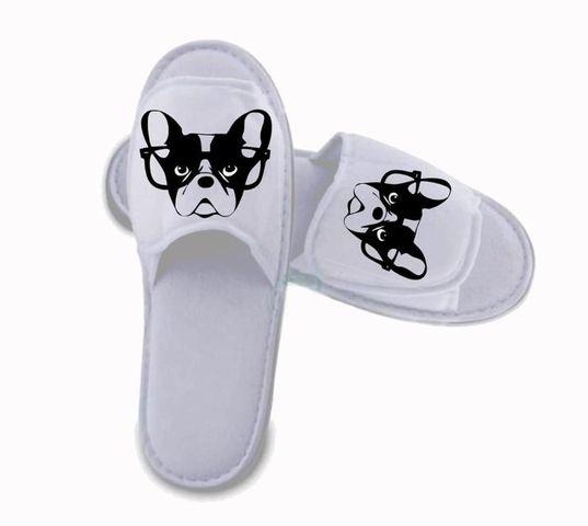 Boston nerd slippers picture