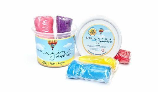 Imagine playdough bucket 5 colours - 500g picture