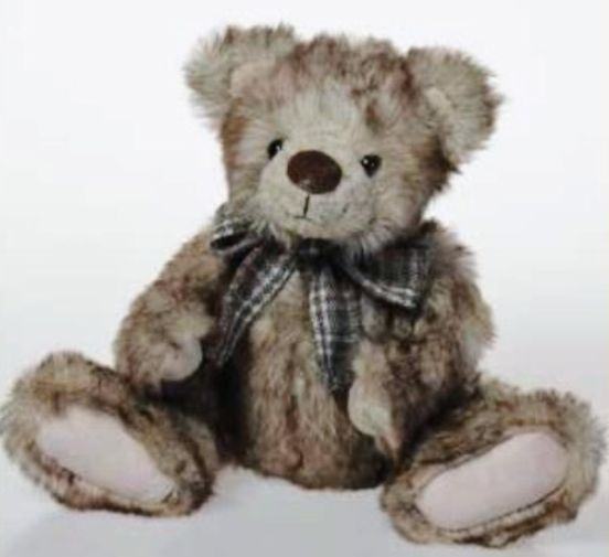 Antique jointed minky bear 45cm picture