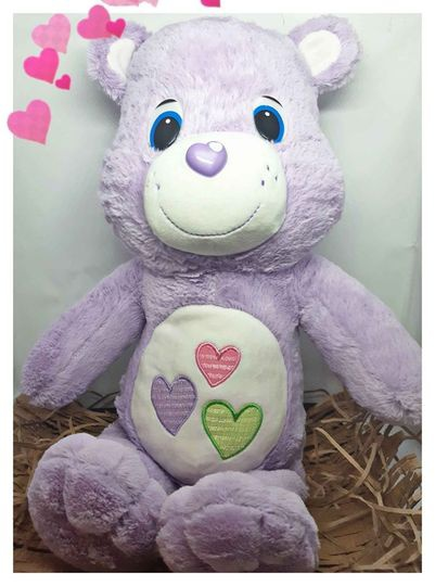 Purple plush bear picture