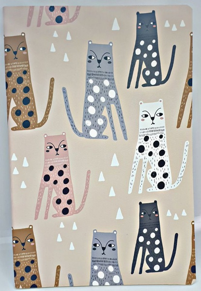 Cat canvas note book - a5 picture