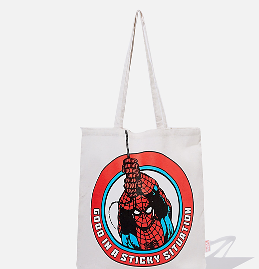 Dc spiderman cotton tote bag picture