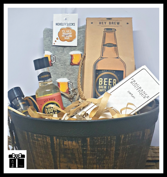 Hey brew groomsmen gift box picture