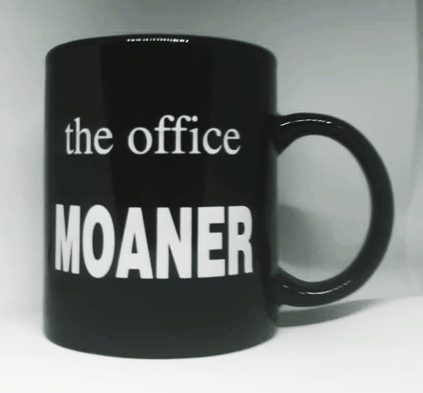 Year end office award novelty mug - moaner picture