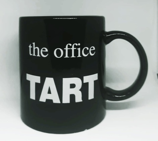 Year end office award novelty mug - tart picture