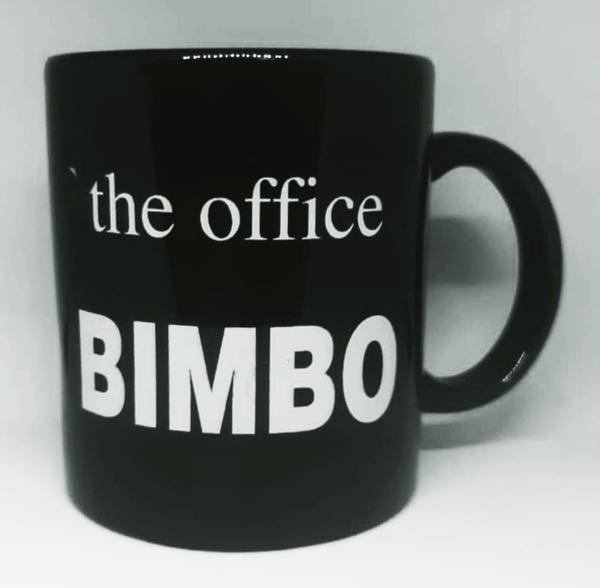Year end office award novelty mug - bimbo picture