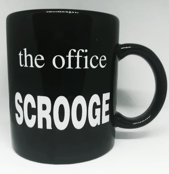 Year end office award novelty mug - scrooge picture