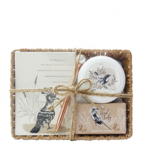 Bird study - pamper time basket giftset picture