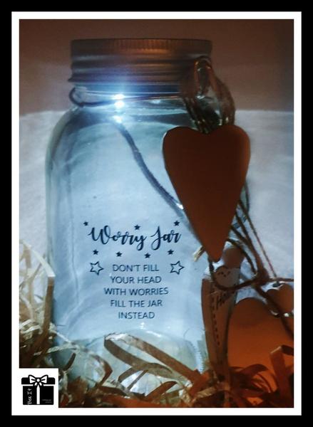 Solar worry jar light picture