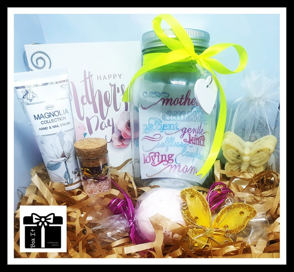 Mother's day magnolia spa jar gift box picture
