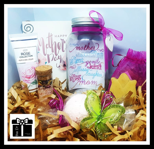 Mother's day rose spa jar gift box picture