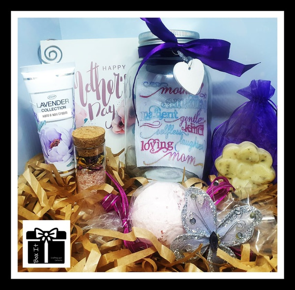 Mother's day lavender spa jar gift box picture