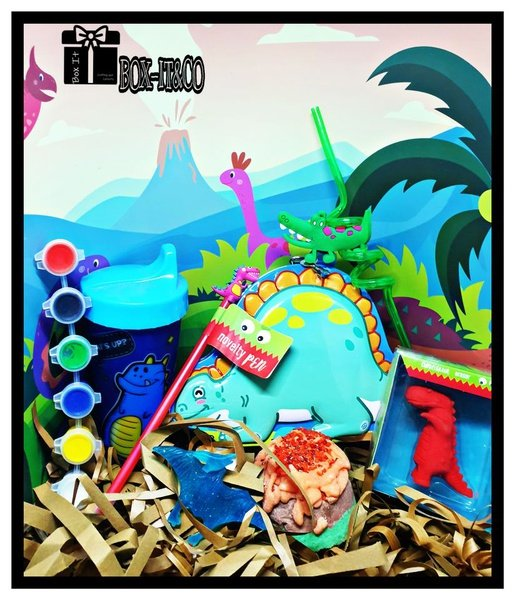 Bath and play dino resort gift box picture