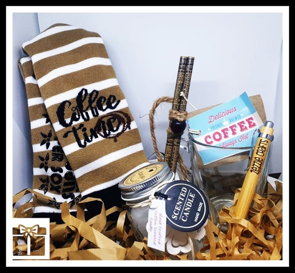 Coffee time aroma filled gift box picture