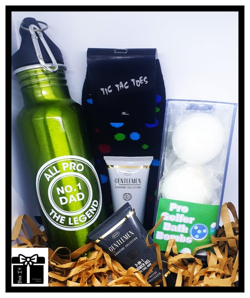 Pro golfer dad gift box picture