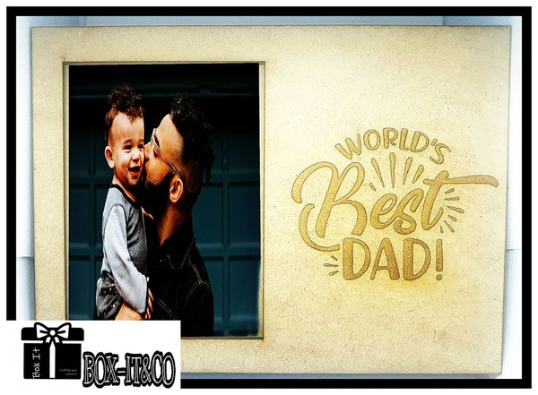 World's best dad engraved photo frame picture