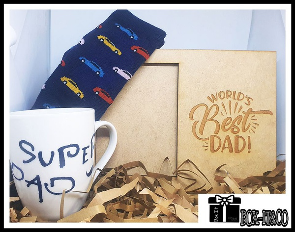 Best dad ever classic gift box picture