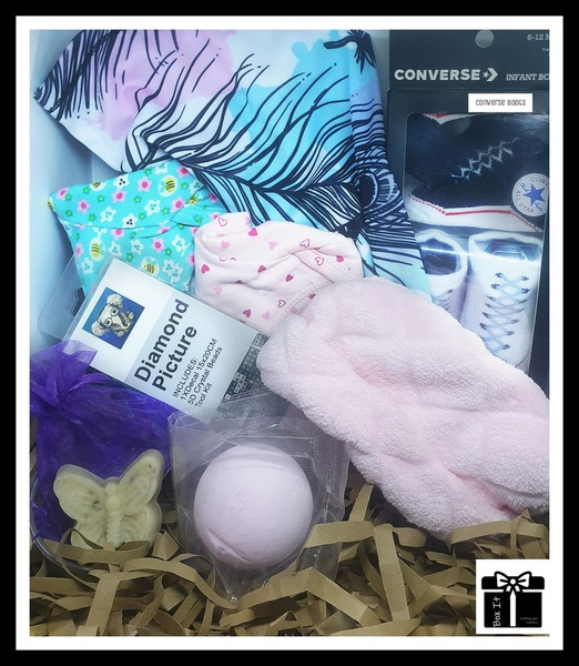 Mom's baby girl shared gift box picture