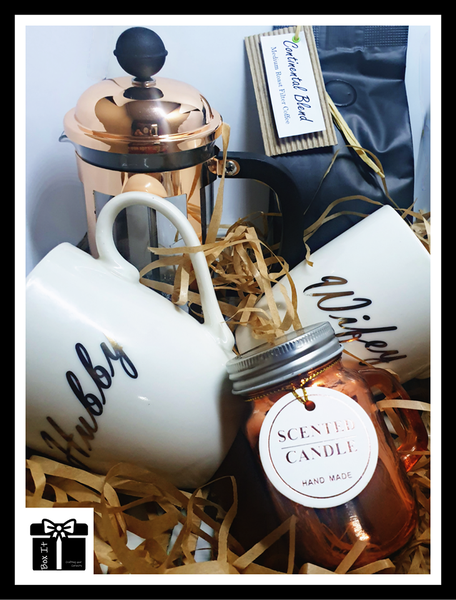 Couple rose gold coffee date gift box picture