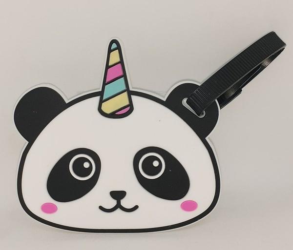 Panda corn luggage/ bag tag picture