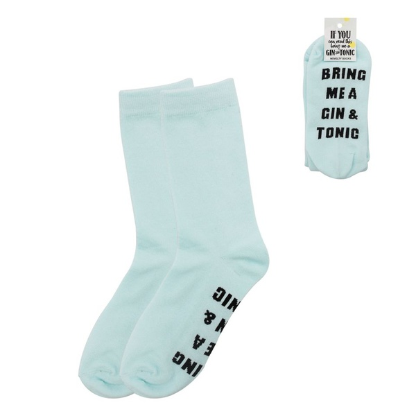 Novelty socks (if you can read this bring me a gin & tonic) picture