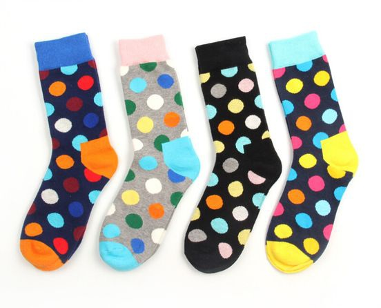 Polka dot socks picture
