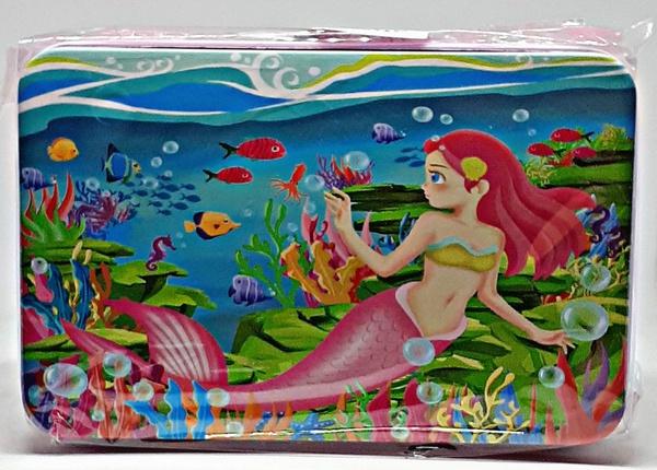 Puzzle in tin - mermaid 12.5 x 8cm picture