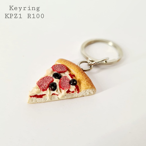 Pizza keyring picture