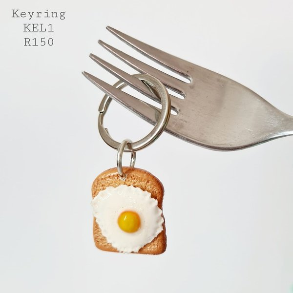 Egg on toast keyring picture