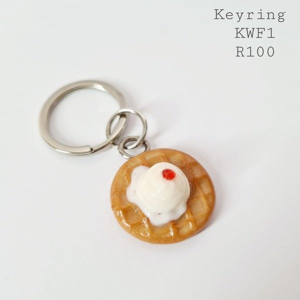 Waffle keyring picture
