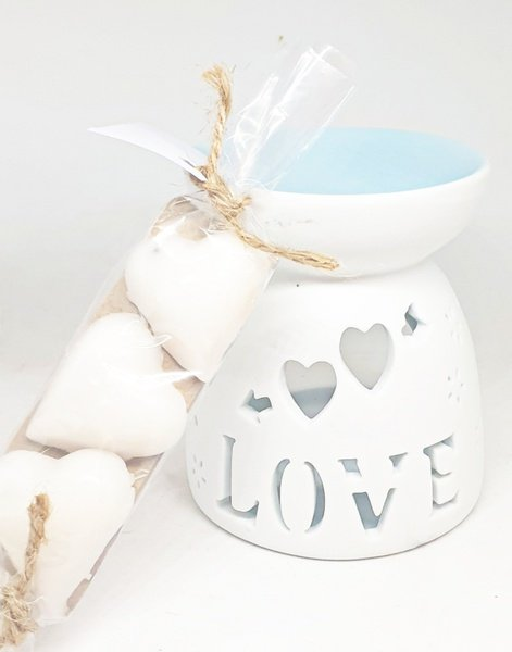 Aromatherapy oil burner with sensual aromatherapy candle meltz picture